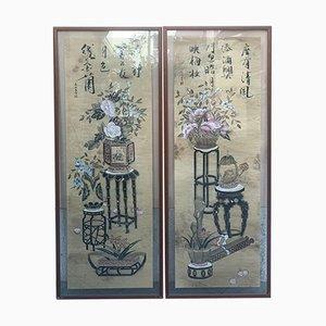 Japanische Dekorplatten, 2er Set