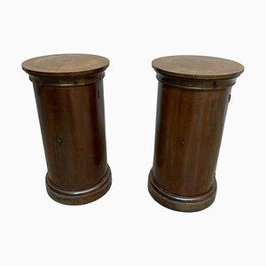 Zylinder Nachttische, 20. Jh., 2er Set