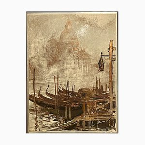 Venezia Su Argento, Painting by Aldo Raimondi, 20th Century