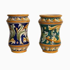 Vintage Keramikvasen von Caltagirone, 2er Set
