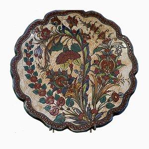 Vintage Handpainted Ceramic Plates by G. Giotto, Monte San Savino, Set of 2