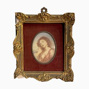 Frame with Cameo on Vintage Photo Paper, 1940s