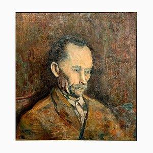 Retrato de hombre, pintura, óleo sobre madera