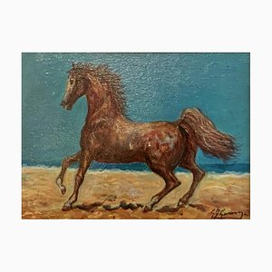 Horse by Gonzaga, Oil on Panel