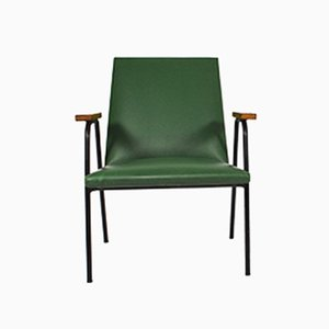 Grüner Kunstleder Sessel von Pierre Guariche, 1950er