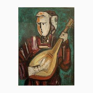 Salvatore Cozzolino, Musica, Öl auf Leinwand, 1977