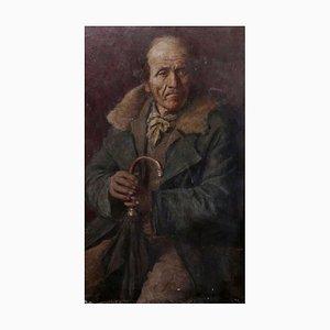Oil on Canvas, Ritratto di Vecchio, 1800s