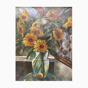 Ajroldi de Robbiate, Girasoli, óleo sobre lienzo, 1926