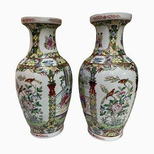 Chinesische Keramik Vasen, 20. Jh., 2er Set