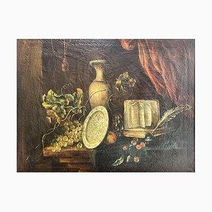 Bodegón, óleo sobre lienzo, década de 1800