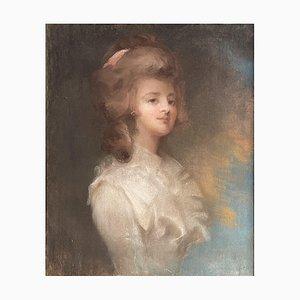 Retrato de una dama, pintura, pastel sobre papel, década de 1800