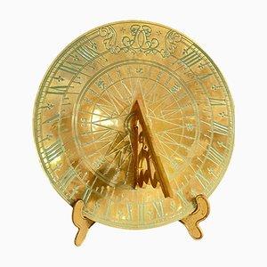Vintage Brass Sundial, 20th-Century
