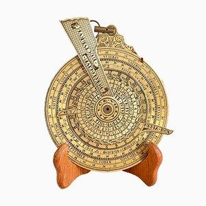 Orologio da notte vintage in ottone, XX secolo