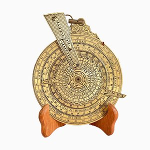 Reloj de noche vintage de latón, siglo XX