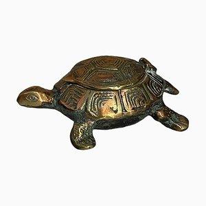 Vintage Messing Aschenbecher in Form einer Schildkröte
