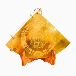 Orologio da tavolo in ottone, XX secolo