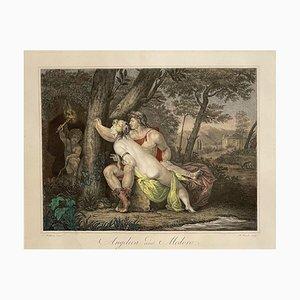 Angelica e Medoro, Print Watercolor