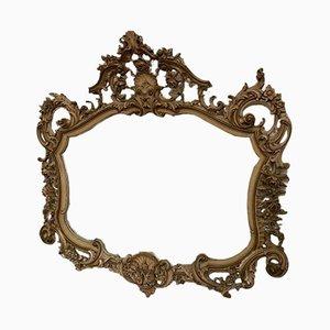 Specchio vintage intagliato e laccato