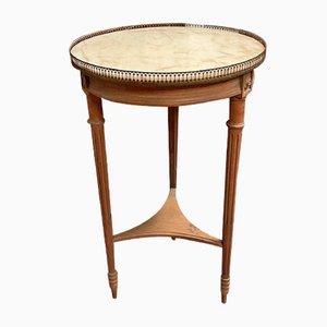 Runder Tisch mit Marmorplatte