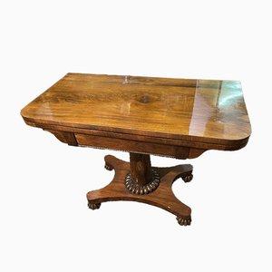Mesa de juegos de caoba, década de 1800