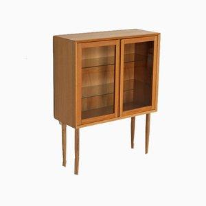 Vintage Danish Oak Display Cabinet