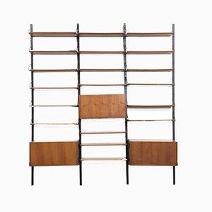 Estantería modular italiana vintage, años 60