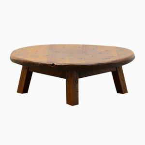 Brutalist Solid Oak Coffee Table.