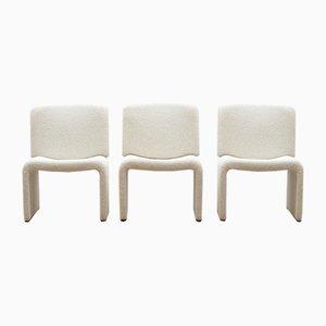 Italian Lounge Chairs in Bouclé Fabric, 1970s
