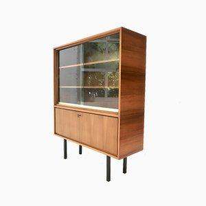 Mid-Century Walnut Showcase Cabinet, 1960s