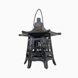 Japanese Cast Iron Pagoda Garden Lantern