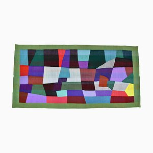Mid-Century Abstract Handwoven Tapestry by Daniel De Liniere
