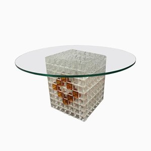 Italian Coffee Table by Albano Poli for Poliarte, 1970s