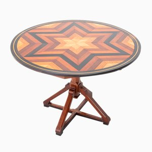 19th-Century French Specimen Inlaid Circular Table