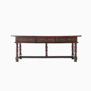 Großer spanischer Tisch aus Nussholz, 17. Jh