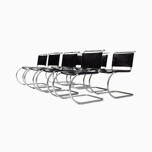 MR10 Dining Chairs by Ludwig Mies Van Der Rohe for Knoll Inc. / Knoll International, Set of 8