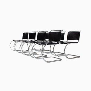 Sedie da pranzo MR10 di Ludwig Mies Van Der Rohe per Knoll Inc. / Knoll International, set di 8