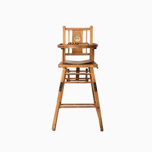 French Childrens High Chair, 1960s