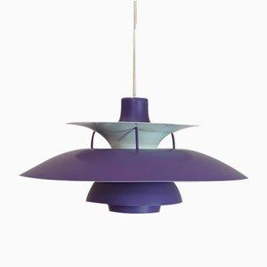 Lampe à Suspension PH5 Violette par Poul Henningsen pour Louis Poulsen, Danemark