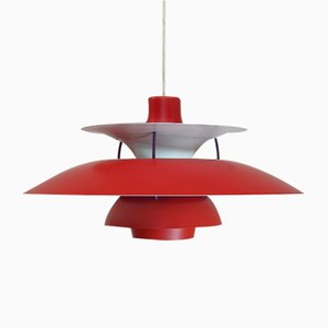 Danish Red PH5 Pendant Lamp by Poul Henningsen for Louis Poulsen