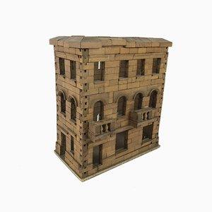 Modello architettonico vintage in legno, Francia, inizio XX secolo
