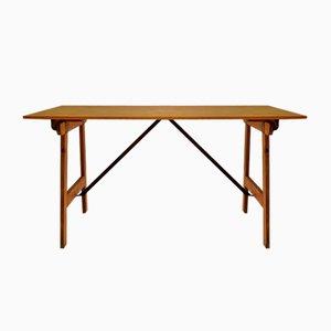 Mesa de comedor o de trabajo plegable, años 50