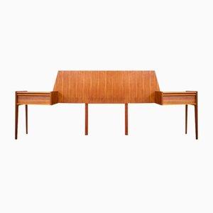 Mid-Century Teak Headboard & Bedside Tables from Austinsuite