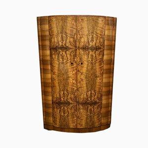 Art Deco Burr Walnut Double Wardrobe