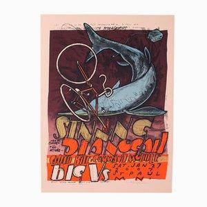 Serigrafia o poster di un concerto americano
