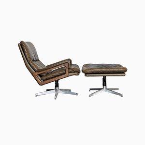 Vintage Sessel & Fußhocker von André Vandenbrouck für Strässle, 2er Set