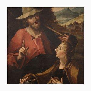 Antique Italian Religious Painting, 18th-Century