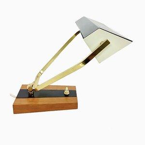 Teak Metall Schreibtischlampe, 1960er