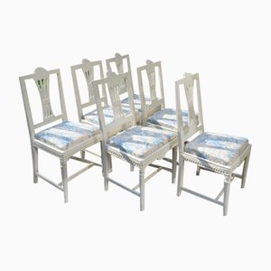 Gustavian Chairs, 1880, Set of 6