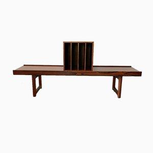 Rosewood Bench Model Krobo by Torbjørn Afdal, 1960. From Mellemstrands Trevareindustri As