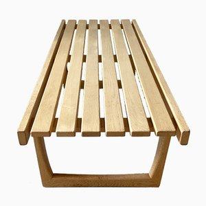 Scandinavian Oak Bench Model Tokyo by Yngvar Sandström for Nordiska Kompaniet 1960s.